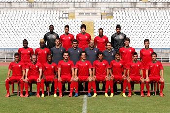 Foto de grupo da seleção de sub-19