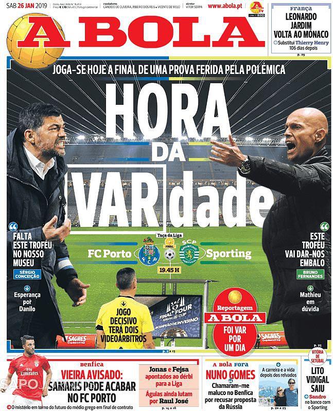 Chegou A Hora Da Vardade So Da Fc Porto Sporting Nas Manchetes Taca Da Liga Sapo Desporto