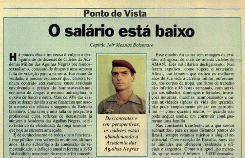 Jair Bolsonaro foi preso em 1987 por ter planeado um atentado contra o exército brasileiro?