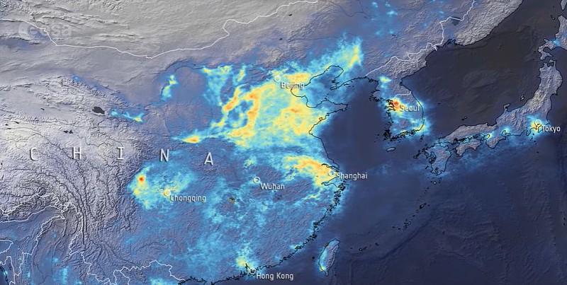 China está a regressar à normalidade depois da quarentena... e os níveis de poluição também
