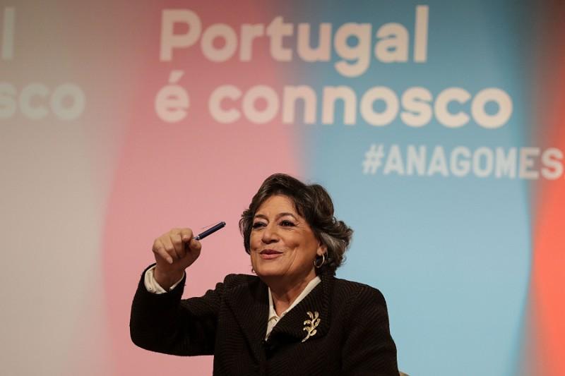 """Ana Gomes diz cumprir """"objetivo patriótico"""" de impedir que a ultra direita se assuma como """"possível alternativa"""""""