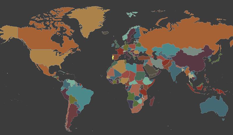 Este mapa interativo permite ouvir as línguas e sotaques do mundo