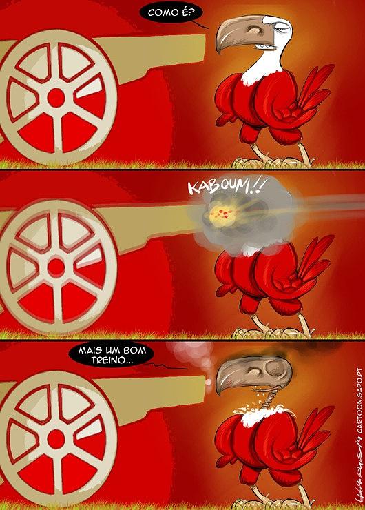 Cartoons - Os jogos de preparação do Benfica
