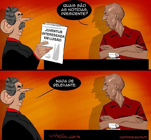 Cartoons - A saída de Luisão do  Benfica