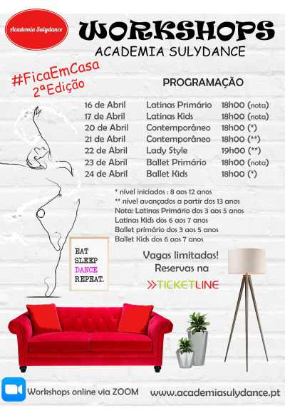 2ª Workshops Online#Ficaemcasa-Academia Sulydance