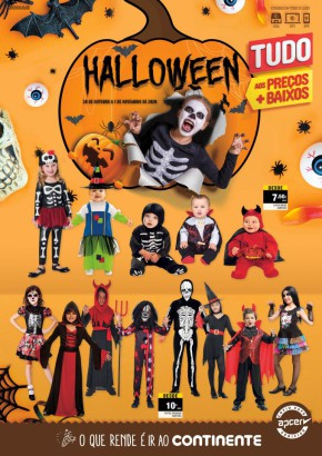 Halloween - Folheto Continente de 20 out 2020 a 01 nov 2020