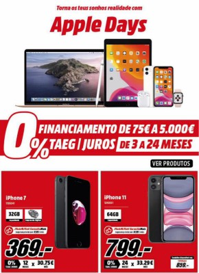 Apple Days - Folheto Media Markt de 28 mai 2020 a 03 jun 2020
