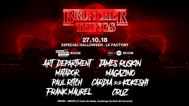 BRUNCH ELECTRONIK LISBOA - ESPECIAL HALLOWEEN