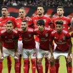 epa07514690 The starting eleven of Benfica lines up before the UEFA Europa League quarter final second leg soccer match between Eintracht Frankfurt and Benfica Lisbon in Frankfurt, Germany, 18 April 2019.  EPA/RONALD WITTEK