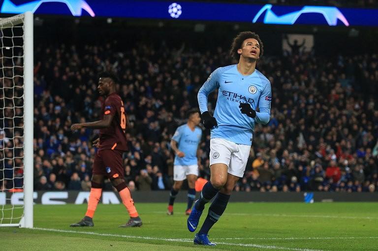 68e59bcf6f Liga dos Campeões  Manchester City vence Hoffenheim com dois golos de Sané