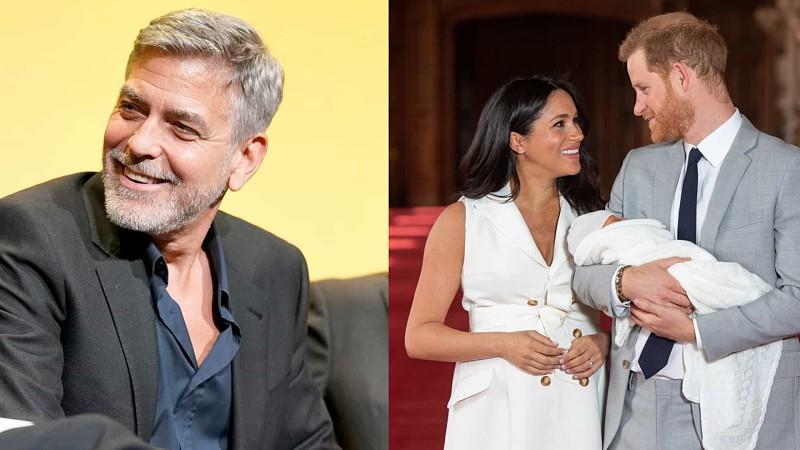 Em Londres, George Clooney espera ver bebé real