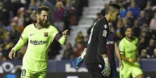 Messi  arrasa  Levante e mantém FC Barcelona líder isolado em Espanha bc5c337ac8709
