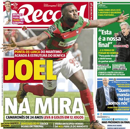 Revista de imprensa  A  exigência  de Jorge Jesus a Bruno de ... 47f22306e3abe