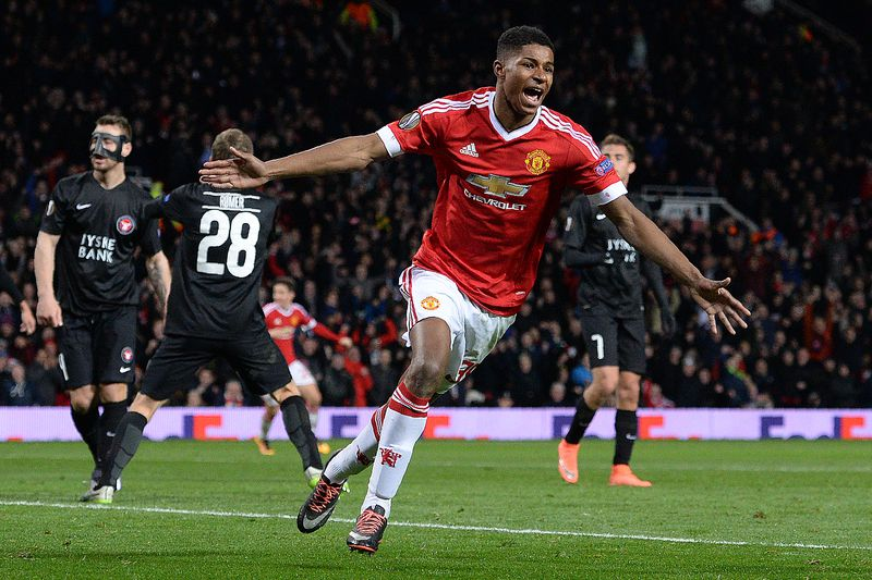 marcus rashford • Marcus Rashford, jovem coqueluche do Manchester United • AFP or licensors