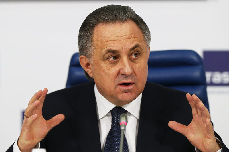 Russian Sports Minister Vitaly Mutko • epa05351621 (FILE) A file picture dated 25 December 2015 of Russian Sports Minister Vitaly Mutko during his end of the year press conference in Moscow, Russia. A documentary by German state broadcaster ARD alleged Russian Sports Minister Vitaly Mutko of being implicated in latest doping allegations by helping to cover up doping offence, the Guardian newspaper reported late 07 June 2016.  EPA/YURI KOCHETKOV *** Local Caption *** 52488040 • Lusa