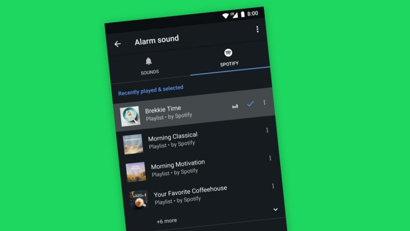 Google integra Spotify no despertador do Android para acordar utilizadores com a sua música preferida