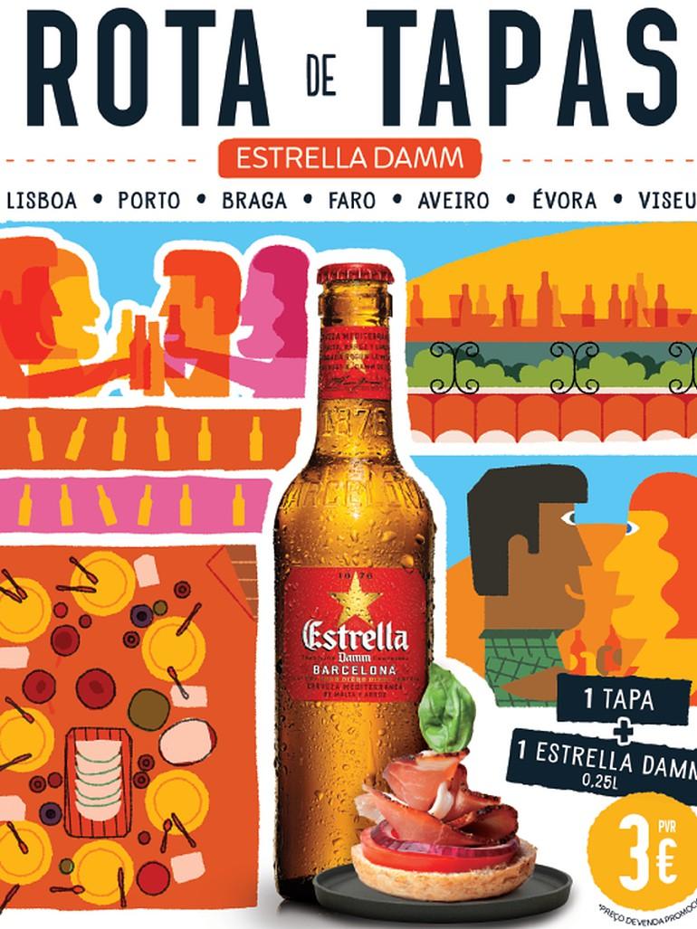 Rota de Tapas com petisco mais cerveja a três euros em mais de 150 restaurantes