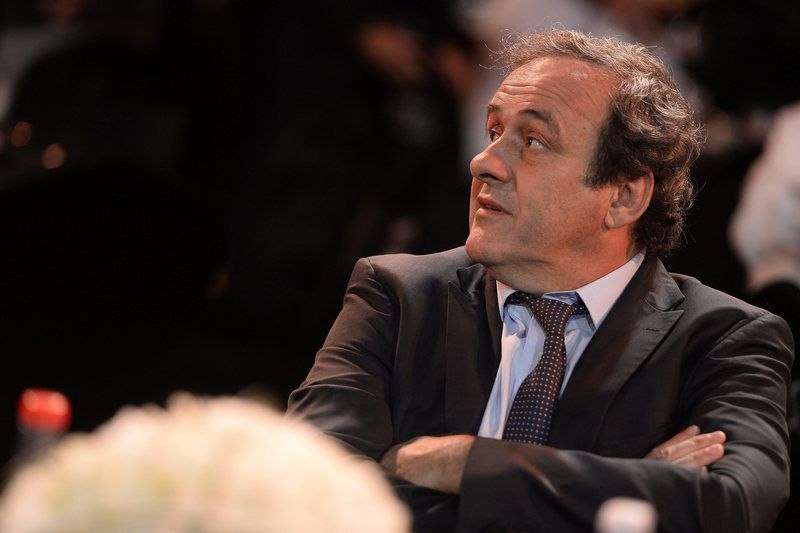 Dubai International Sports Conference in Dubai • epa05083655 A handout photo made available on 30 December 2015 by the Globe Soccer shows banned UEFA president Michel Platini attending the Globe Soccer awards ceremony at the 10th edition of Dubai International Sports Conference in Dubai, United Arab Emirates, 27 December 2015. FIFA President Joseph Blatter and UEFA President Michel Platini were banned from football for eight years by the ethics committee of football's world governing body on 21 December 2015. Platini has said he is determined to fight his ban and wants to pursue his bid to become FIFA president.  EPA/GLOBE SOCCER / HANDOUT  HANDOUT EDITORIAL USE ONLY/NO SALES • Lusa
