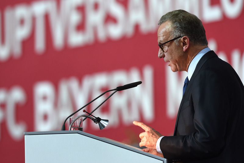 Karl-Heinz Rummenigge, diretor-executivo do Bayern Munique • CHRISTOF STACHE / AFP