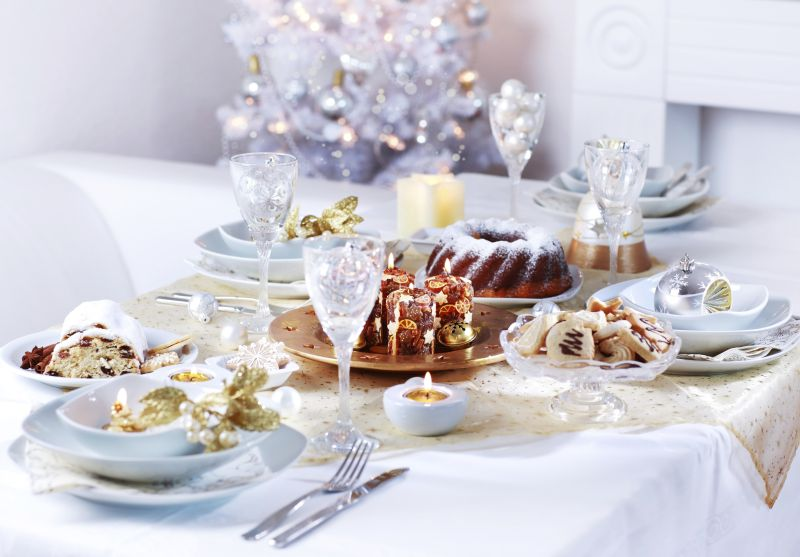 Luxury place setting for Christmas