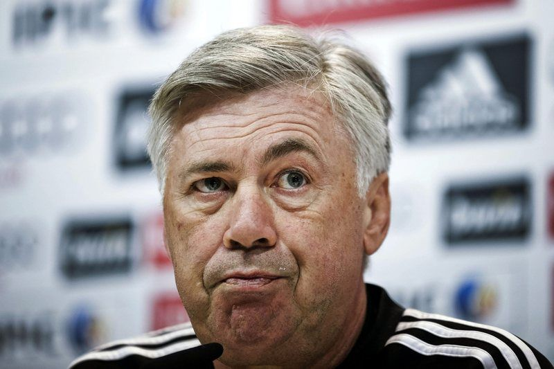 Carlo Ancelotti, treinador do Real Madrid • AFP