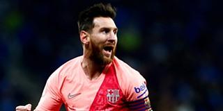 e4b7124fb8 Messi bisa e Barcelona vence dérbi com o Espanyol