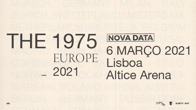THE 1975 - 2020 EU TOUR