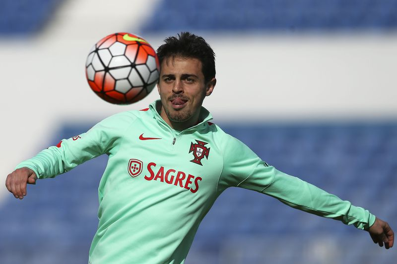 Portugal training session • Portugal's national soccer team player Bernardo Silva, during a training session at Restelo stadium in Lisbon, Portugal, 26 March 2016.  Portugal will face Belgium in a friendly soccer match on 20 March 2016.  • JOSE SENA GOULAO/LUSA