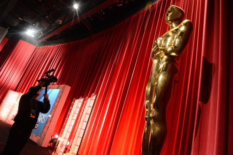 The Oscar statuette is viewed at the Samuel Goldwyn Theartre  on January 11, 2013 in Beverly Hills, California. Steven Spielberg is hoping for good news Thursday as Oscar nominees are unveiled, with his