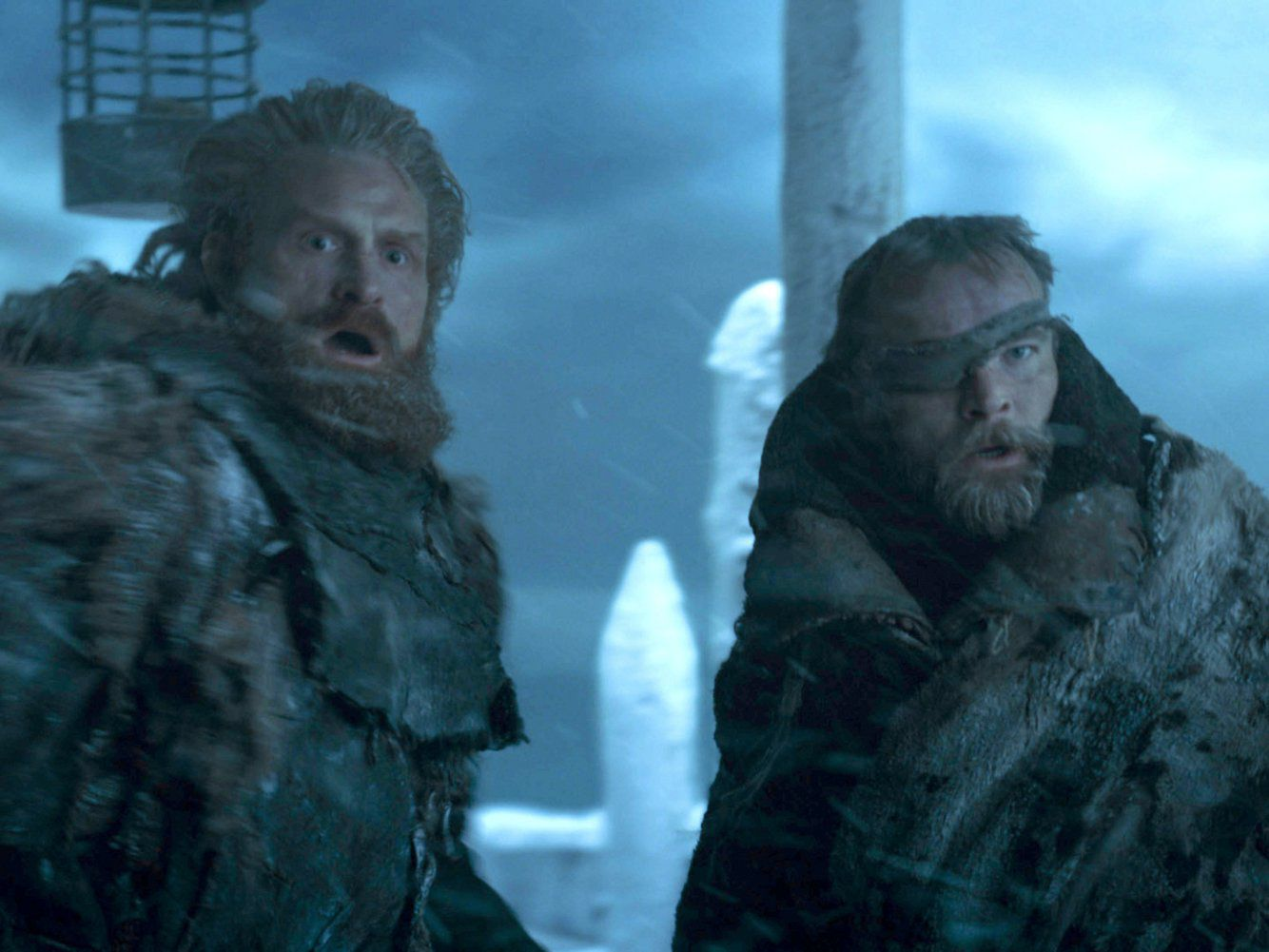 Beric Dondarrion (Richard Dormer) e Tormund (Kristofer Hivju)