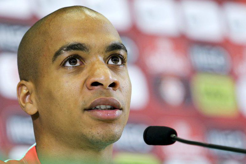 Portugal National team press conference • epa05414579 Portugal's national team soccer player Joao Mario speaks during a press conference in Marcoussis, near Paris, France, 08 July 2016. Portugal faces France on 10 July in the UEFA Euro 2016 Final.  EPA/MIGUEL A. LOPES • Lusa