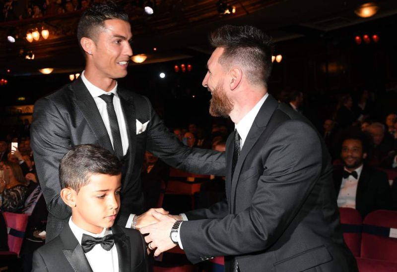 Cristiano Ronaldo e Messi na gala The Best