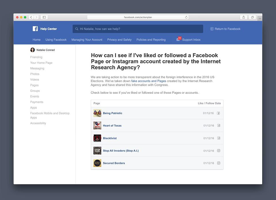 tek facebook fake news