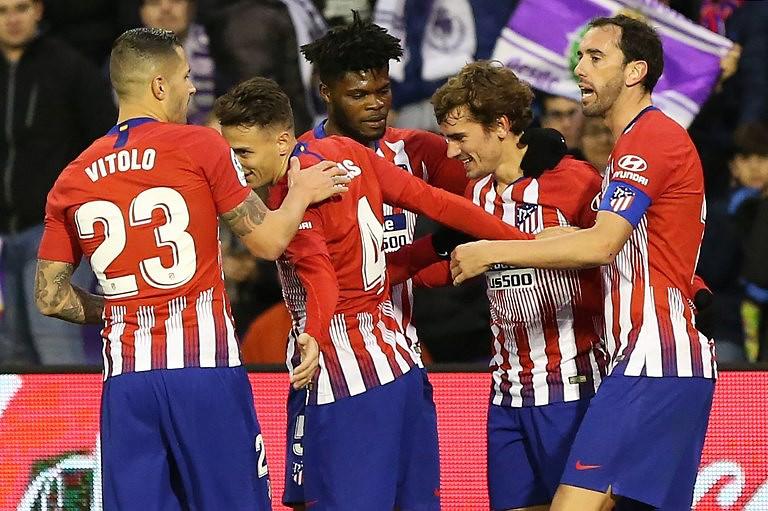 Atlético de Madrid bate Valladolid e alcança provisoriamente líder FC  Barcelona 5e397f94e3afc