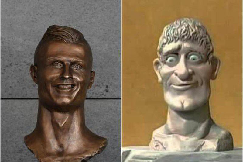 d601808d7170c Mais uma estátua de Ronaldo que vira piada na Internet - Seleção ...