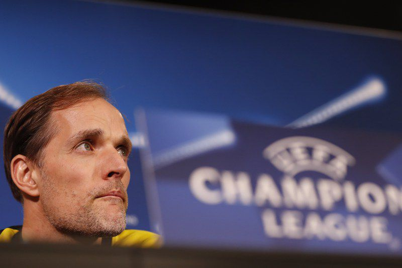 Borussia Dortmund press conference • epa05834959 Borussia Dortmund's coach Thomas Tuchel attends a press conference in Dortmund, Germany, 07 March 2017. Borussia Dortmund will play against Benfica in the UEFA Champions League Round of 16 second soccer match on 08 March 2016 in Dortmund.  EPA/FRIEDEMANN VOGEL • Lusa