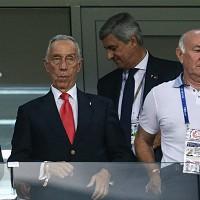 Marcelo Rebelo de Sousa assiste ao jogo em Sochi @PAULO NOVAIS/LUSA