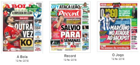 Revista de imprensa: O KO de Salvio e o regresso do FC Porto à Champions