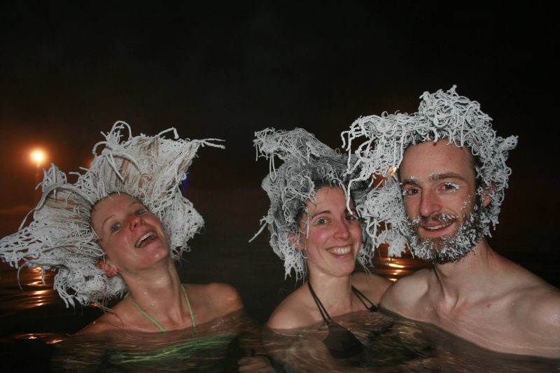 The International Hair Freezing Contest, é um concurso promovido pela Takhini Hot Pools e dá prémios em dinheiro ao melhor penteado congelado. Conheça a seguir os vencedores da edição de 2016/2017. @Takhini Hot Pools
