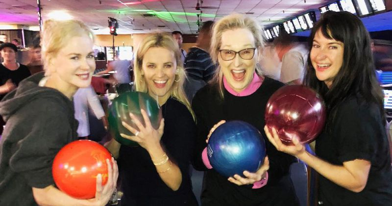 "Meryl Streep jogou bowling com o elenco de ""Big Little Lies"""