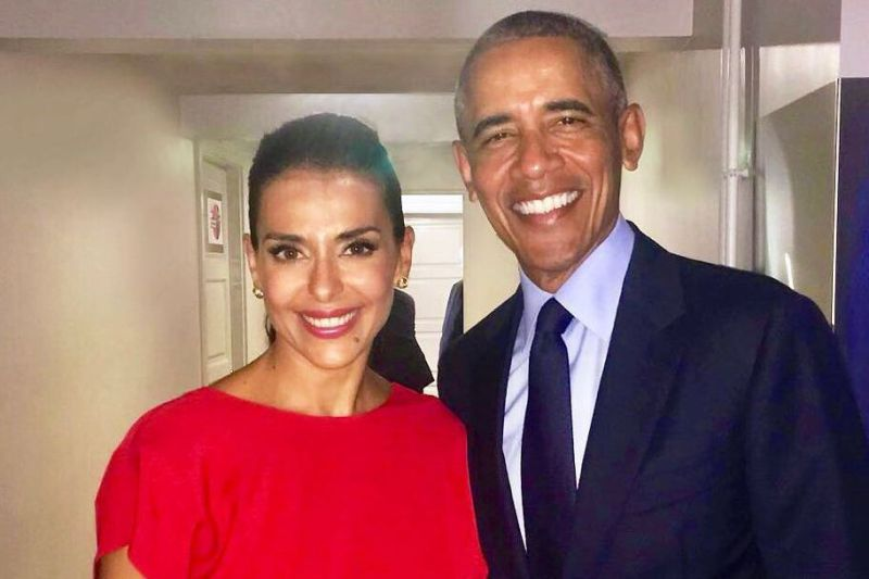 Catarina Furtado ao lado de Barack Obama: