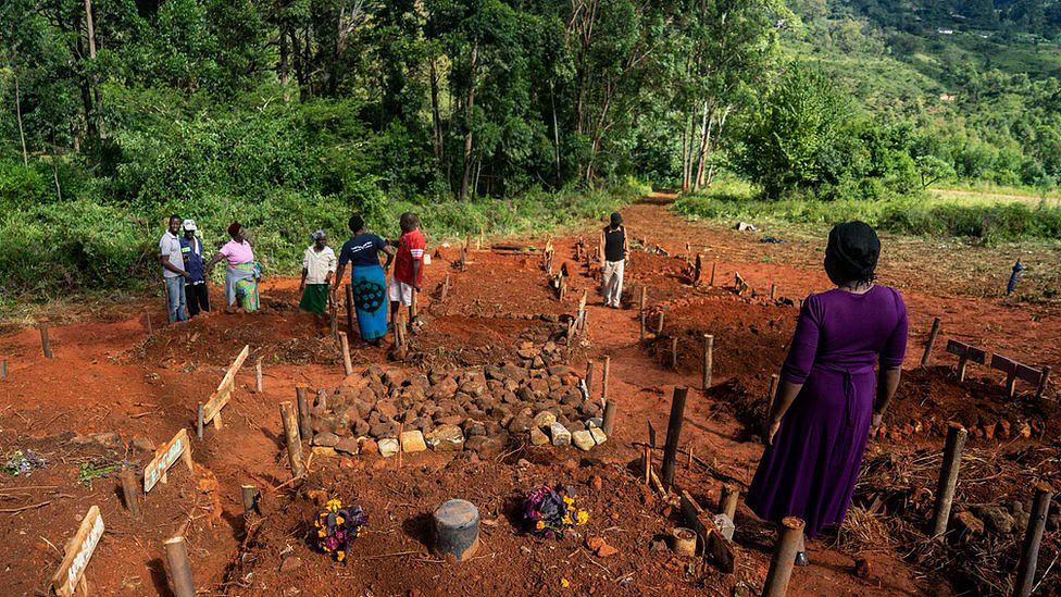Túmulos coletivos no Zimbábue, que também foi afetado pelo ciclone