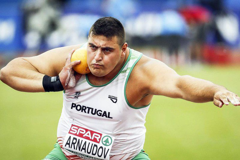 Athletics European Championships 2016 • epa05416781 Tsanko Arnaudov of Portugal competes in the men's Shot Put qualification round of the European Athletics Championships at the Olympic Stadium in Amsterdam, Netherlands, 09 July 2016.  EPA/KOEN VAN WEEL • Lusa