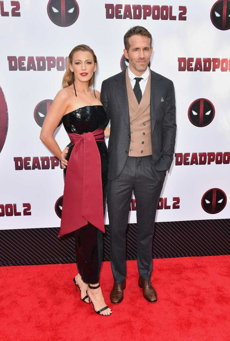 Blake Lively e Ryan Reynolds arrasam na estreia de 'Deadpool 2'