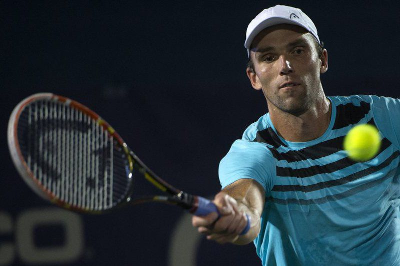 Citi Open tennis tournament • epa04873862 Croatia's Ivo Karlovic in action against Ukraine's Alexandr Dolgoplov during their second round match at the Citi Open tennis tournament in Washington, DC, USA, 06 August 2015.  EPA/SHAWN THEW • Lusa