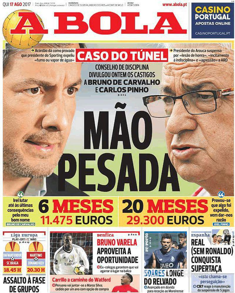 Suspensão de Bruno de Carvalho, saída de Carrillo e gestão