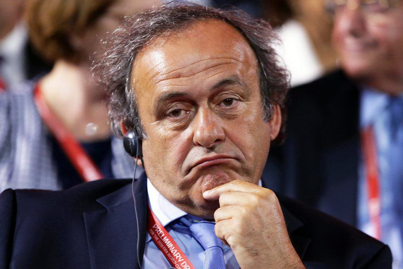 Preliminary Draw FIFA World Cup 2018 • epa04860081 UEFA President Michel Platini attends the Preliminary Draw of the FIFA World Cup 2018 in St.Petersburg, Russia, 25 July 2015. St.Petersburg is one of the host cities of the FIFA World Cup 2018 in Russia which will take place from 14 June until 15 July 2018.  EPA/TATYANA ZENKOVICH • Lusa