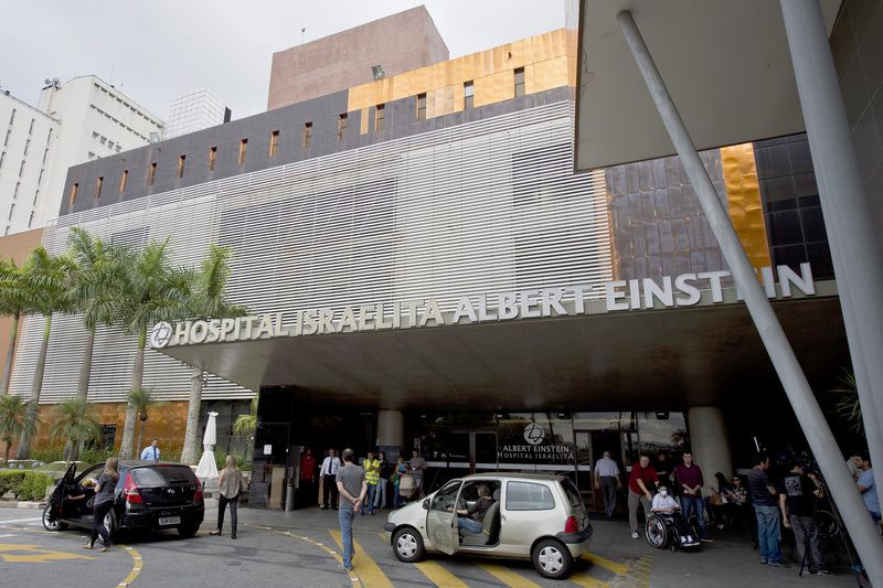 Hospital Albert Einstein • NELSON ALMEIDA / AFP
