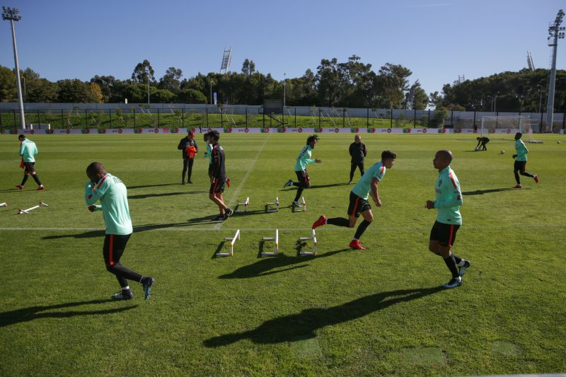 Portugal prossegue preparação para  amigável  com Croácia Treino da seleção  nacional de futebol ... 9e7425d58af17