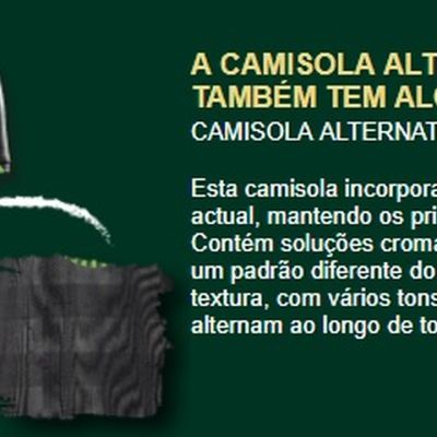 410a939892718 Nova camisola do Sporting.